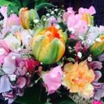 2月、3月は 可愛い花がたくさんです!パステル色!スイトピーやチューリップ(^^)