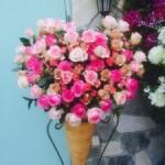 サロン人気店様へスタンド装花です!ハートなは見えるかな^ ^
