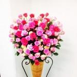 ハートのスタンド装花をお贈りさせていただきました(^^)