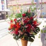 開店御祝スタンド装花です!福岡の人気のお店の系列店のオープンです。